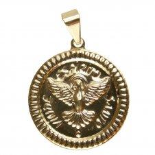 Imagem - Pingente Espirito Santo Chapinha Estampado Folheado a Ouro cód: 15701518