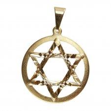 Imagem - Pingente Estrela de David Folheado a Ouro Pequena 13499379