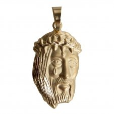 Imagem - Pingente Face de Cristo Folheada a Ouro cód: 14003083