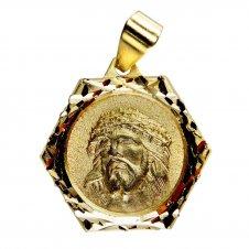 Imagem - Pingente Face de Cristo Sextavado 19393843