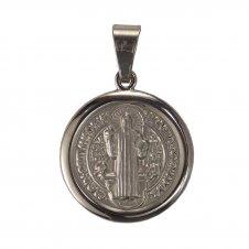 Imagem - Medalha Redonda de Inox de São Bento cód: 11488503
