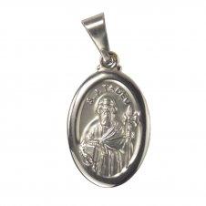 Imagem - Medalha Oval de Inox de São Judas Tadeu cód: 18572848