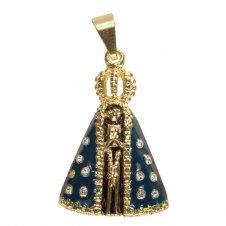 Imagem - Pingente de Nossa Senhora Aparecida Folheado a Ouro cód: 11467489