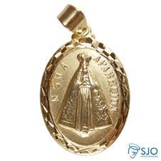 Imagem - Pingente Oval Nossa Senhora Aparecida Grande cód: 12897388
