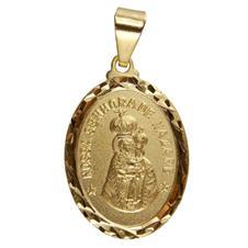 Pingente Oval Nossa Senhora de Nazaré Grande