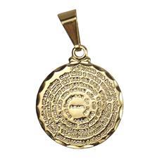 Pingente Pai Nosso Folheado a Ouro - 1,5 cm