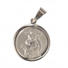 Imagem - Medalha Redonda de Inox do Sagrado Coração de Jesus cód: 15279943