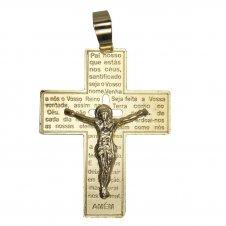 Imagem - Pingente de Crucifixo com Pai Nosso cód: 13576422