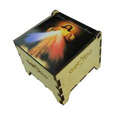 Imagem - Porta Joia Madeira Jesus Misericordioso - 00074895-8