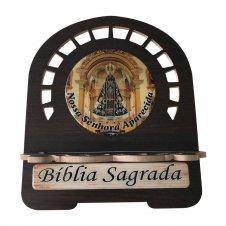 Imagem - Porta Bíblia MDF Nossa Senhora Aparecida - 30 cm cód: PBMNSA