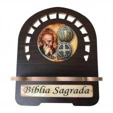 Imagem - Porta Bíblia MDF São Bento - 22 cm cód: PBMSB-22