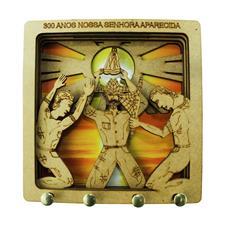 Imagem - Porta Chave de MDF Jubileu 300 Anos cód: 00087450-1-0