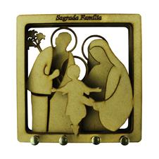 Imagem - Porta Chave de MDF Sagrada Família cód: 00087450-2