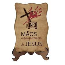 Porta Retrato Mãos Ensanguentadas de Jesus