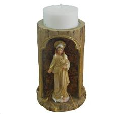 Imagem - Porta Vela de Resina do Sagrado Coração de Maria cód: 13790748