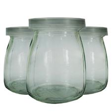 Pote de Vidro com Tampa de Plástico