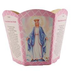 Imagem - Protetor de Vela - Nossa Senhora das Graças cód: 11909764