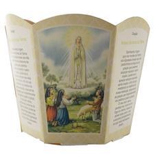 Imagem - Protetor de Vela - Nossa Senhora de Fátima cód: ntnaloja14710218