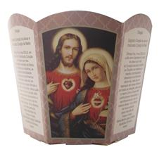 Imagem - Protetor de Vela - Sagrado Coração de Jesus e Imaculado Coração de Maria cód: 15418166