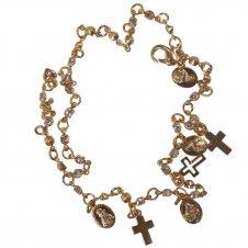 Imagem - Pulseira Folheada a Ouro com Nossa Senhora das Graças e Aparecida - 14630411