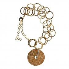 Imagem - Pulseira Folheada a Ouro com Medalha Pai Nosso  cód: 19982639-19