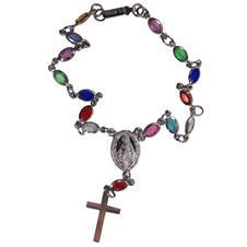 Imagem - Pulseira Inox com Pedrinhas Nossa Senhora das Graças - 16209339