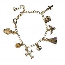 Imagem - Pulseira Pingentes Católicos - Mod. 2 cód: 11335079-19