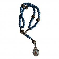 Imagem - Pulseira Terço Nossa Senhora Aparecida - Azul cód: TP018-Azul