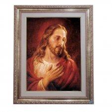 Imagem - Quadro - Jesus Complacente - 52 cm x 42 cm cód: 13307115