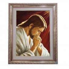 Imagem - Quadro - Jesus Orando - 52 cm x 42 cm cód: 17798966