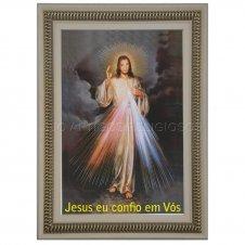 Imagem - Quadro Religioso Jesus Misericordioso - 70 x 50 cm cód: 14377322