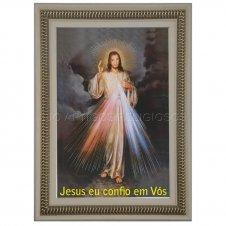 Imagem - Quadro Religioso Jesus Misericordioso 90 x 60 cm cód: 13450534