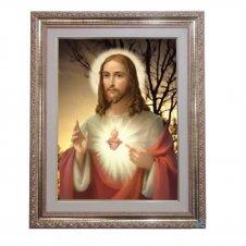 Imagem - Quadro - Sagrado Coração de Jesus - Modelo 1 - 52 cm x 42 cm cód: 16701742