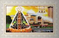Imagem - Quadro Religioso Nossa Senhora Aparecida - 70 x 50 cm cód: 15483351