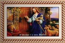 Imagem - Quadro Religioso Bom Pastor - 70 cm x 50 cm cód: 17011063