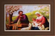 Imagem - Quadro Religioso Jesus, Maria e José - 70 x 50 cm cód: 10135231
