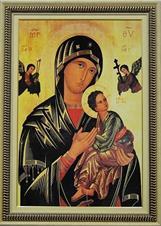 Imagem - Quadro Religioso Nossa Senhora do Perpétuo Socorro - 70 x 50 cm cód: 19867507