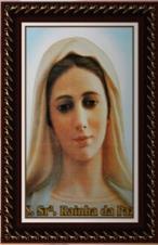 Imagem - Quadro Religioso Nossa Senhora Rainha da Paz - 70 x 50 cm cód: 17980180