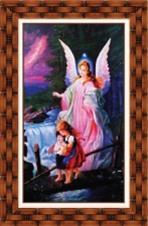 Quadro Religioso Santo Anjo - 70 x 50 cm