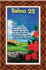 Imagem - Quadro Religioso Texto Bíblico - 70 x 50 cm - Mod. 1 cód: 18198100