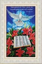 Quadro Religioso Texto Bíblico - 70 x 50 cm - Mod. 3
