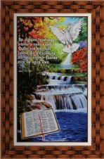 Imagem - Quadro Religioso Texto Bíblico - 70 x 50 cm - Mod. 5 cód: 15582619