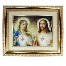 Imagem - Quadro Sagrado Coração de Jesus e Maria 37,5 x 33 cm cód: 14478306