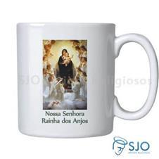 Imagem - Caneca Nossa Senhora Rainha dos Anjos com Oração cód: 16813827