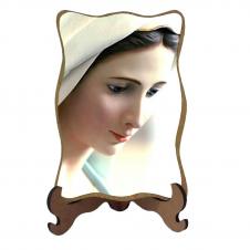 Imagem - Porta-Retrato Nossa Senhora Rainha da Paz - Modelo 1 cód: 16936134