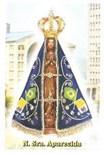 Imagem - Santinhos de Oração Nossa Senhora Aparecida - Mod. 2 - 11329742