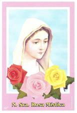 Imagem - Santinhos de Oração Nossa Senhora da Rosa Mística - 14777210