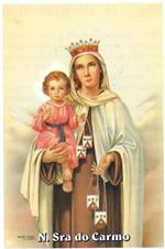 Santinhos de oração de Nossa Senhora do Carmo