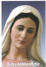 Santinhos de Oração Nossa Senhora Rainha da Paz