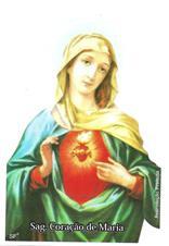 Imagem - Santinhos de Oração Sagrado Coração de Maria - 19924326